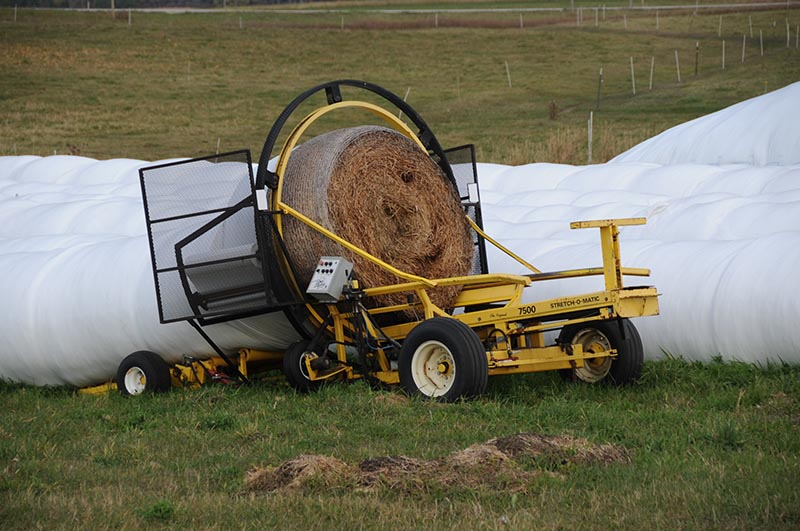 In-line silage wraps
